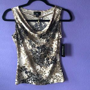 90's Vintage Sparkly Sleeveless blouse